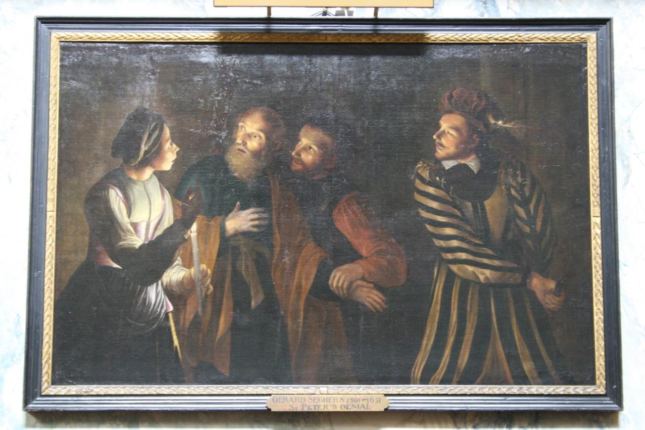 Le reniement de Saint Pierre peint par G. Segers (XVIe s.)
