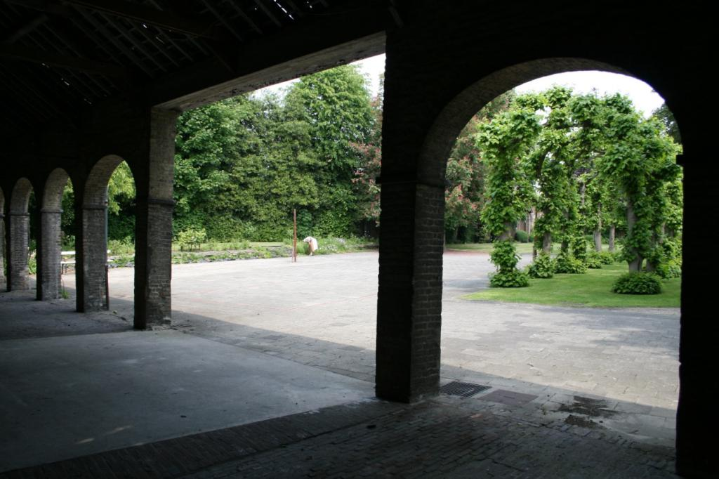 The Gallery and tree-covered walk in the former school garden